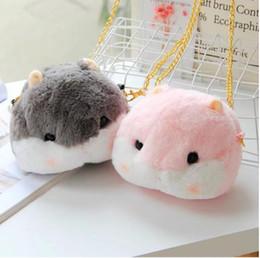 $enCountryForm.capitalKeyWord NZ - New Arrival Cute Little Hamster Bag Plush Backpack Hamster Animals Satchel Purse Cartoon Small Coin Bag Wallet