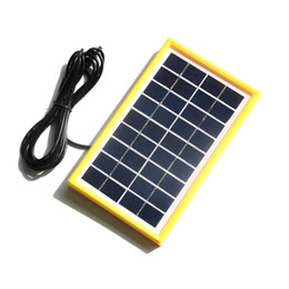 battery free cell phone charger Australia - BUHESHUI 3W 9V Solar Cell Module Polycrystalline DIY Solar Panel System Battery Charger Light+DC5521 Cable 3M Free Shipping