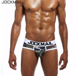 Discount underwear penis prints - JOCKMAIL Brand 2018 New Camouflage printed Mens Underwear Briefs comfortable panties Sexy mens bikini briefs Gay underwe