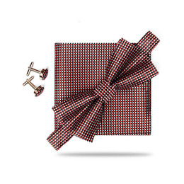 Chinese  Shindek Plaid Bowtie With Pocket Square Set For Men Pre-bowtie Checkered Red Blue Bowties Wedding manufacturers