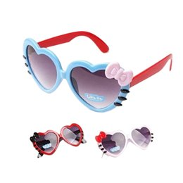 $enCountryForm.capitalKeyWord Australia - Bowknot Style Fashion Sunglasses Outdoor Love Heart-shaped Cute Baby Girls Kids Sunglasses Glass Child Goggles Eyewear IS0328