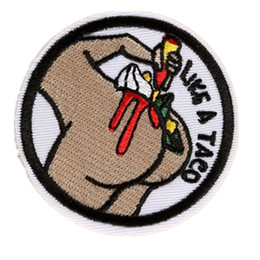3aa40a07 Embroidered Patches Sewing Iron On Like A Taco Badge For Bag Jeans Hat  Appliques DIY Sticker Decoration Apparel Accessories