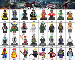 Marvel Blocks Figure Canada - Wholsale Super hero Mini Figures Marvel Avengers DC Justice League Wonder woman Deadpool Spiderman Cat Woman building blocks kids gifts