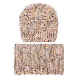 $enCountryForm.capitalKeyWord UK - 2018 New 2PCS Set Fashion Women Keep Warm Winter Wool Knitted Cap Neck Warmers Scarf Hat Se25