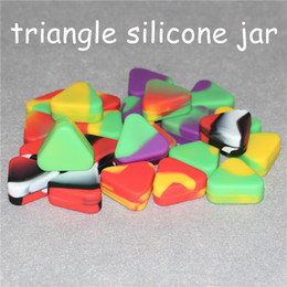 Discount hash oil - silicone jar dab wax container 1.5ml triangle silicone container Butane Hash Oil Containers silicone oil mats and dabber