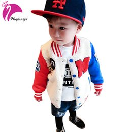 Discount sports jacket for girls - weiqinniya Boys Jackets Winter Kid Jacket For Boy Fashion Children Letter Sports Jackets Plus Velvet Kid Baseball Thick
