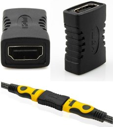 Dvi Connector Hdmi Australia - HDMI to HDMI Female Adapter Black Coupler F F Extender Adapter Connector 1.4 1080p
