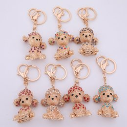 Lemegeton Cheap Wholesale Dropshipping Zinc Alloy Crystal Lovely Animal Dog  Key Chains Keyring for Women and Girl 7f8c3494a3