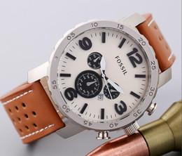 Luxury Wrist Watches Canada - Super Gift Mens Watches Top Brand Luxury Lovers Men Military Sport Wrist Watch Chronograph Leather Quartz Watch Relogio Masculino