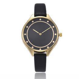 Cheap Quality Battery UK - Elegant Cheap Women Wristwatches Simple PU leather Strap Watch High Quality Ladies Luxury Watches Montre Femme Quartz Clock Reloj Mujer