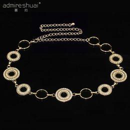 bl dress 2019 - Big Circle Rhinestone Women's Belt Summer Dress Cinto Feminino Gold&Silver Plated Belts For Women(BL-693) YouKee Jewelry