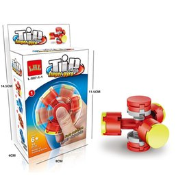 Fantasy pieces online shopping - Decompression Toy Finger Gyro Fidget Spinner Children Three Pieces Assembling Block Hand Spinners Fantasy Fingertip Helix lh W