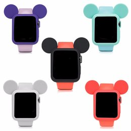 iwatch cover NZ - CRESTED Cute cartoon watch protector  case 42mm 38mm iWatch case 3 2 1 Mouse ears Soft Silicone cover shell