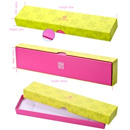 $enCountryForm.capitalKeyWord NZ - Watch Box JULIUS Brand Classic Yellow & Pink Rectangle Shaped Paper Gift Box Packing For Wristwatches Watches Boxes