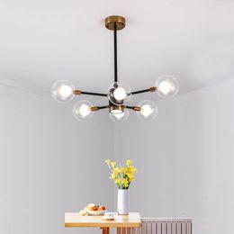 Bubble Ball Bulb Lamp Australia - Vintage Bubble Glass Ball Pendant Lights E27 LED bulbs Modo Pendant Lamps for Living Room Indoor Home Dedoration Lighting
