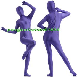 Xl Full Body Suits Australia - Unisex Full Body Suit Costumes Outfit New Purple Lycra Spandex Suit Catsuit Costumes Unisex Sexy Full Bodysuit Costumes Outfit P403