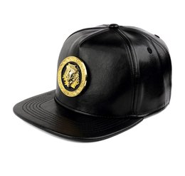 98ab9e5e468 pharaohs egypt 2019 - Leather Hip Hop Caps Snapback Hat Gold Pharaoh of Egypt  Women Wen