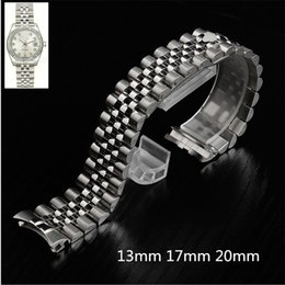 Bracciale con cinturino in oro massiccio 13 mm e cinturino in oro 14 mm con chiusura a moschettone per orologio RX DateJust President in Offerta
