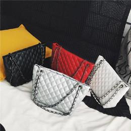 $enCountryForm.capitalKeyWord Canada - 2018 PU Leather Crossbody Messenger Handbag Women Chain Shoulder Bag Plaid Print Sling Satchel Bag bolsa feminina