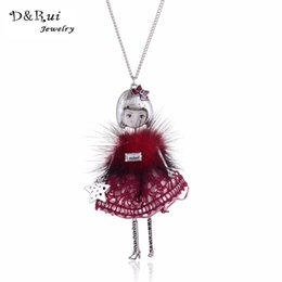 Chinese  whole saleD & Rui Jewelry Metal Statement Doll Necklace Enamel Doll Pendant 2017 News Alloy Girl Women Fashion Jewelry manufacturers