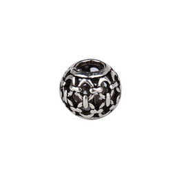 10Pcs Lot Dia 5mm Mixed Round European Charms Zinc Alloy Antique Silver Beads Spacer DIY Bracelets Findings For Jewelry F1110D on Sale