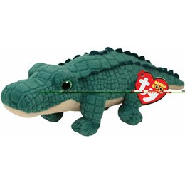 """Character Plush Toys NZ - Ty Beanie Boos 7"""" 18cm Spike the Alligator Reptile Plush Regular Stuffed Animal Collection Soft Doll Toy with Heart Tag"""