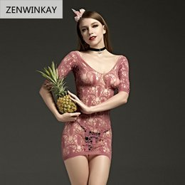 women porn dress NZ - Lace Open Crotch Sex Clothes Slutty Female Erotic Apparel Costumes Porn Women Sexy Lingerie Fishnet Body Stocking Dress Y18102205