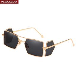 Peekaboo escudo óculos de sol dos homens quadrado punk à prova de vento  armação de metal ouro vermelho amarelo preto óculos de sol do vintage para  homens ... 314de86184