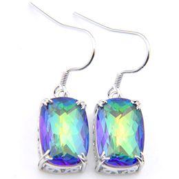52b86befc Rainbow mystic topaz eaRRings online shopping - 5 Pair Holiday Jewelry Gift  Lucky Stone Rainbow Mystic