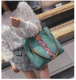Hand Bags Types Australia - Europe and the United States new ribbon bucket type mother bag fashion hand bag shoulder large capacity Messenger baghandba