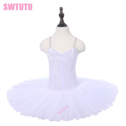 red white tutus Australia - Dance leotards for girls white swan performance ballerina dance ballet tutu skirts performance ballet costumes dress PPL18044H