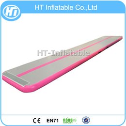 Free Tracks Australia - Free Shipping 7x1m New Design Pink Color Customized LOGO Inflatable Air Tumble Track in Cheap Price