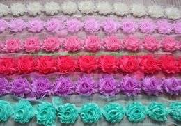 "$enCountryForm.capitalKeyWord Australia - 30y 1.5"" petite chiffon shabby flower for baby headbands,shabby chiffon flower for girls hair clip clothing accessories,headband flowers"