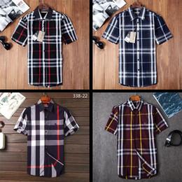 2018 marca dos homens de negócios casuais camisa dos homens, camisa listrada de manga comprida, Associação de Moda dos homens novos, polo camisa AS13 em Promoção