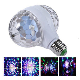 $enCountryForm.capitalKeyWord UK - Double head Crystal RGB e27 led bulb Colorful Magic rotating DJ disco ball light laser snowflake projector Party KTV Lighting