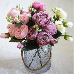 $enCountryForm.capitalKeyWord NZ - Wholesale!!! Beautiful 2018 Artificial Silk Peony Flowers Bouquet Fake Leaf Wedding Party Home Decoration Warm home romantic