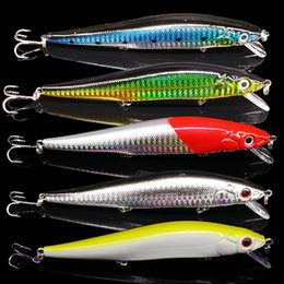 Japan Fishing Lures Wholesale Australia - 14cm 22g Fishing Lure Minnow Hard Bait 3 Treble Hooks Pesca Tackle Lures Bass Crank Baits Swimbait 3D Eyes Japan Laser Luminous Y18101002