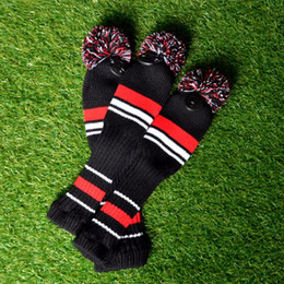 hot fairway woods Australia - Golf Sports Accessories 3Pcs One Set Stripe Wool Knit Golf Clubs Set Driver Fairway Wood Headcovers Covers Hot