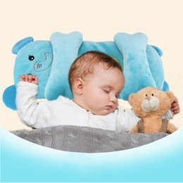 Опт Новорожденный милый мультфильм животных головы стереотип подушка малышей детские мягкие Sleepping подушка для младенческой ребенка 0-12 месяц аксессуары HY0155