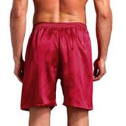 men sexy silk boxers 2019 - Comfortable Men's Satin Silk Boxers Pajama Short Trousers Shorts Combo Pack Underwear Pajamasr Men Sleep Bottoms Se
