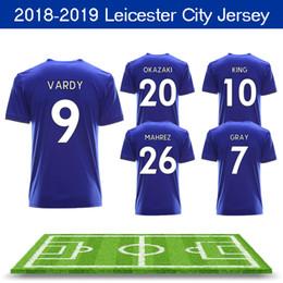 81e2862b9 Maillot De Foot New Thailand Aaa+ 2018 2019 Leicester City Soccer Jersey  Mahrez Kino Slimani Vardy Hutm Ulloa King Blue Home Football Shirt