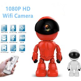 2mp network camera NZ - 1080P HD Robot Pet Baby Monitor 2MP Wireless IP Camera wi-fi Robot camera Wifi Night Vision Network CCTV two-way audio