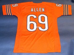 Cheap retro  69 JARED ALLEN CUSTOM orange MITCHELL   NESS Jersey Mens  Stitching High-end Size S-5XL Football Jerseys eac74b344