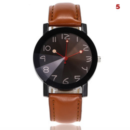 Chinese  Women Men Elegant Quartz Wrist Watch with Ultra-thin PU Leather Strap Number Dial Casual Watch LL@17 manufacturers