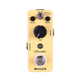 acoustic pedal NZ - Mooer Acoustikar Acoustic Guitar Simulator Pedal 3 Working Modes: Piezo Standard Jumbo Full metal shell True bypass MU0356