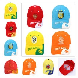 9d5b763b97f70b 2018 World Cup Cap Football Embroidery Hat Snapback Russia FIFA Player Caps  Soccer Fans Souvenir Gifts Designer Cap Cotton Baseball Cap New
