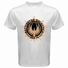 Battlestar Galactica BSG Mens Retro Cylon Head Heather T-Shirt Shirts & Tees