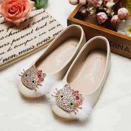 Kitty fabric online shopping - Hello kitty Princess single shoe Korean soft bottom cartoon baby shoes