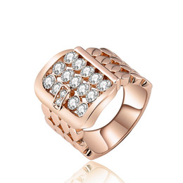 Hollow Fingers Australia - SHUANGR Round Crystal Stone Sterling Silver Hollow Wide Band Women Finger Rings for Wedding Engagement Jewelry