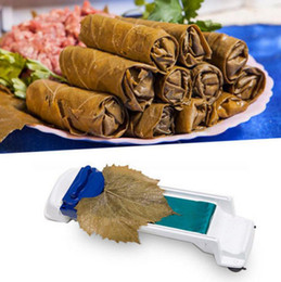sushi rolling machine Canada - Dolmer Magic Roller Sushi Roller Vegetable Meat Rolling Tool Stuffed Garpe Cabbage Leave Grape Leaf Machine 100pcs OOA4838
